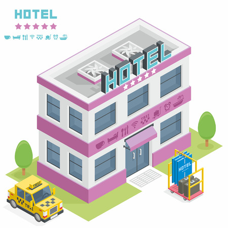 hotel building: Hotel building Illustration