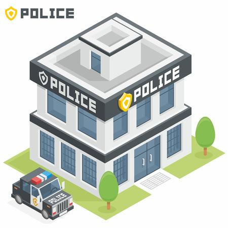 Polizeidienstgebäude Standard-Bild - 45353302