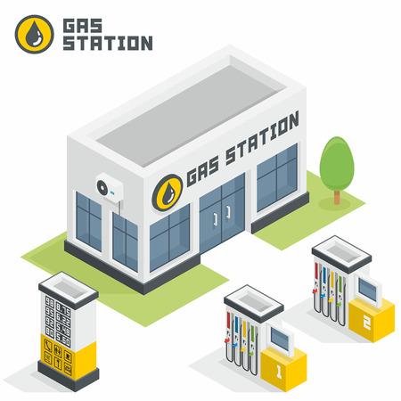 Tankstelle Gebäude Standard-Bild - 45353308