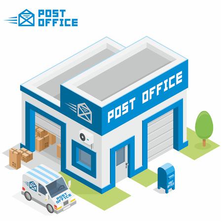 Post office building Stock Illustratie
