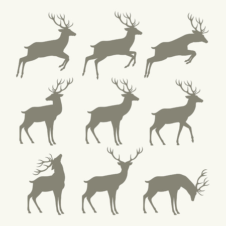 christmas reindeer silhouettes