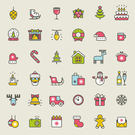 212,797 Christmas Icons Stock Vector Illustration And Royalty Free ...