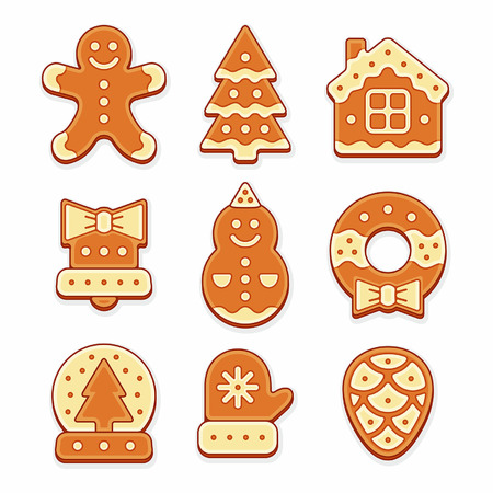 gingerbread cookies: Set of Gingerbread cookies