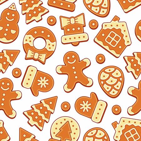 christmas sock: Christmas Cookies Pattern