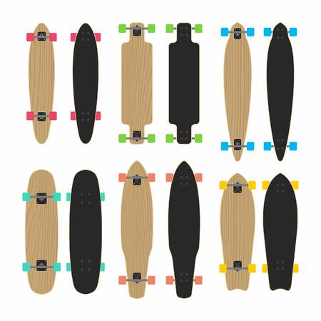cruiser: skateboard type set