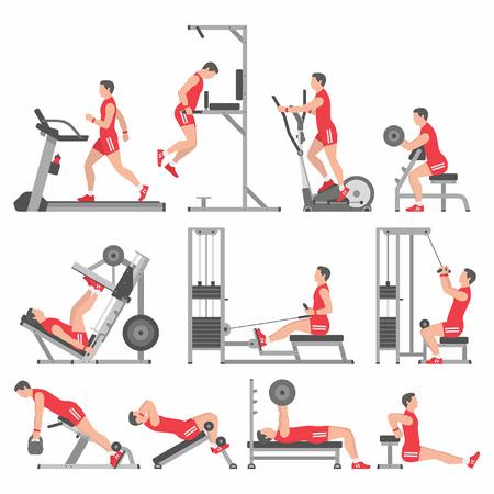 boys in the gym Vektoros illusztráció