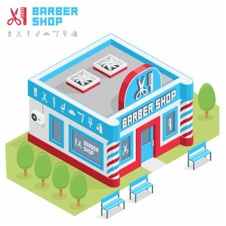 building icon: barbershop building
