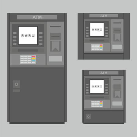 pay money: ATM Illustration