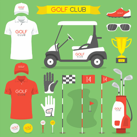 sunglasses recreation: Golf club, golf Illustration