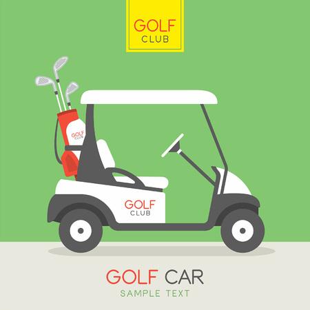Carro de golfe Foto de archivo - 55727060