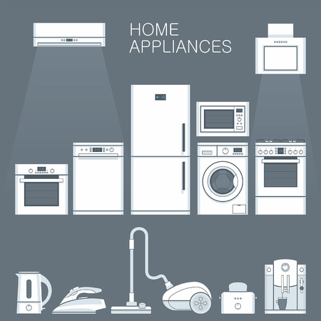 appliances: Home appliances Illustration