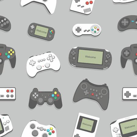 gamepad seamless background 矢量图像