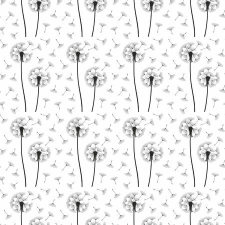 overblown: Dandelion seamless pattern Illustration