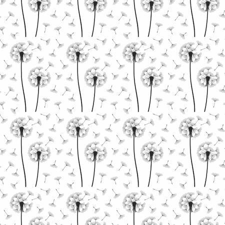 posterity: Dandelion seamless pattern Illustration