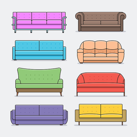 sofa set: sofa Icon set