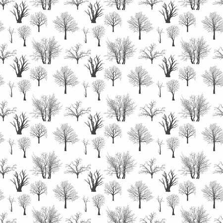 tree silhouette: Pattern with Trees Silhouettes