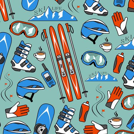 Wintersport collectie patroon