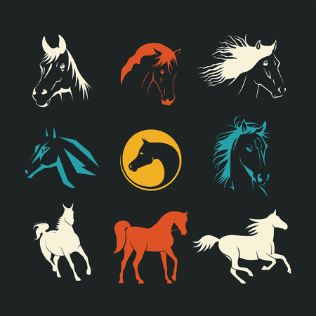 racehorse: Logos horse Illustration