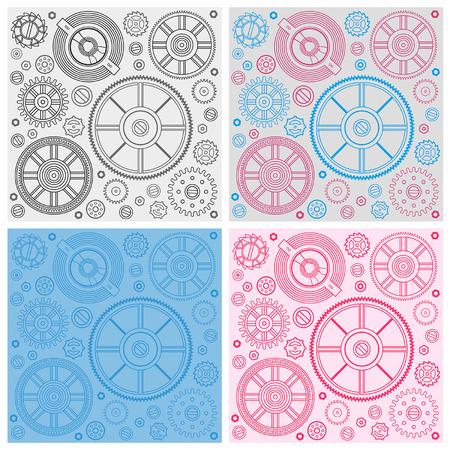 dag: Seamless pattern of gears