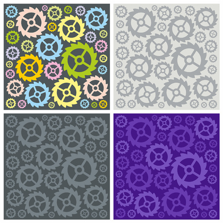 time drive: Seamless pattern of gears