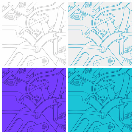 timekeeper: Seamless pattern of gears