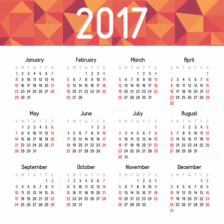 calendar september: calendar for 2017 Illustration