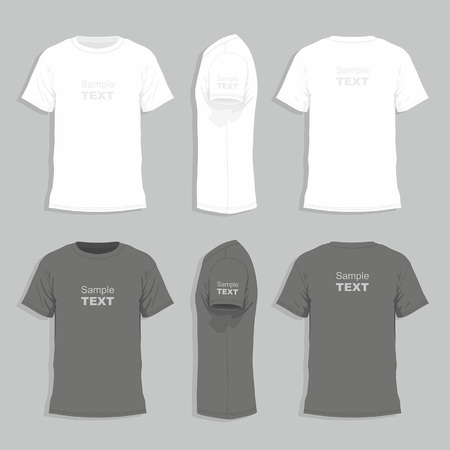 Men's t-shirt design template Illustration