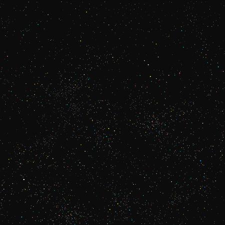 Nocne niebo wypełnione gwiazdami