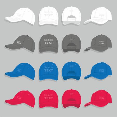 birretes: conjunto gorra de béisbol