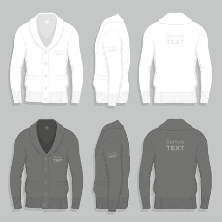 Men cardigan design template