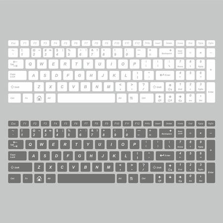 clavier d'ordinateur en couleur blanc et noir