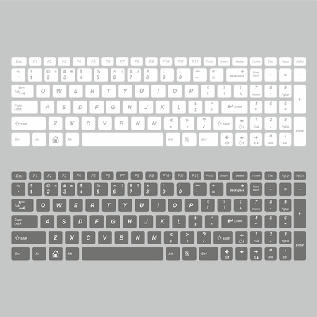 computer keys: computer keyboard in white and black color