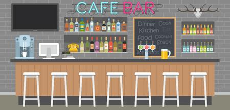 bar interior: cafe bar interior