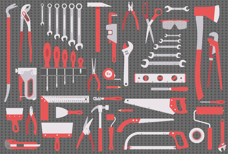 sprain: Wall with tools Illustration