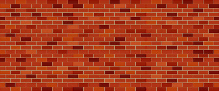 building bricks: Red brick wall Illustration
