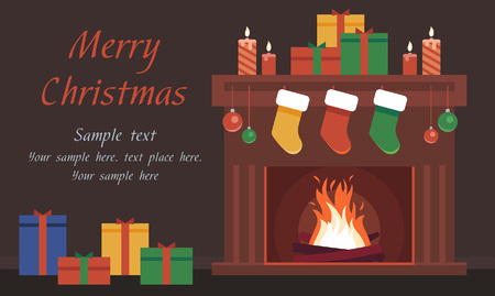 plinth: Christmas Card with the fireplace