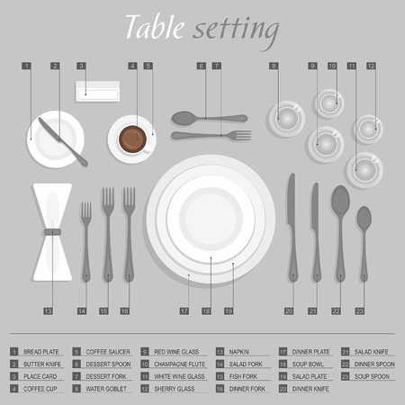place setting: Table setting