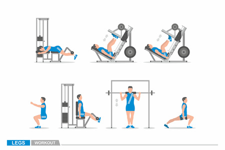 Set of workout for legs