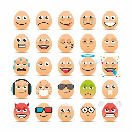 Happy Easter eggs emoticons