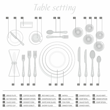 formal place setting: Table setting