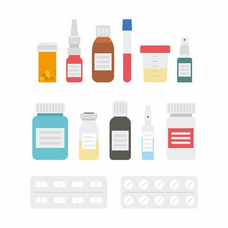 bottle of medicine: Medicine bottles collection