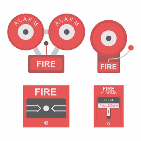 carbon monoxide: Fire alarm flat icon