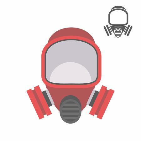 scenario: gas mask flat icon