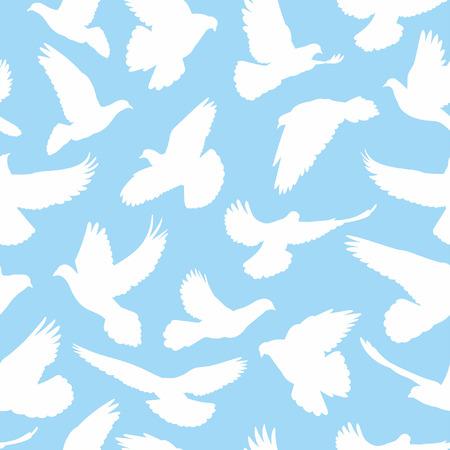 bird fly: doves pattern seamless Illustration