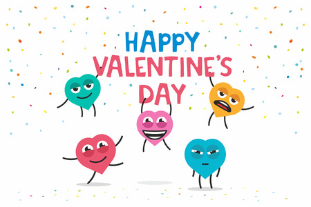 sweety: funny greeting card Happy Valentines day Illustration