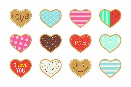 バレンタイン ハートの形をしたクッキー
