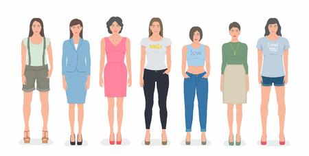 woman white shirt: Group of women