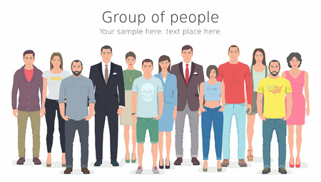 young man jeans: Group of people Illustration