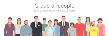 crowd happy people: Group of people Illustration