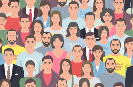 Grupo de personas sin patrón